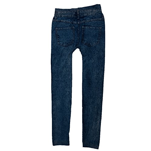 SODIAL(R) Femme Jeans Sexy Maigre Jambiere Collant Jambiere Extensible Pantalon - Bleu