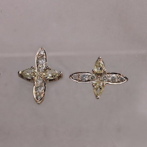 d Diamond Pave SI Clarity Fine Stud Earrings Handmade Jewelry (Earrings Si1 Clarity Diamonds)