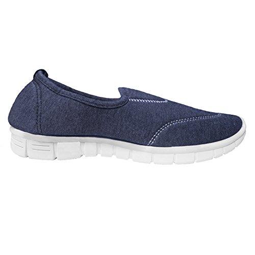 Flexibilidad Talla Deporte Deportivas azul Zapatillas Vacaciones marino Mujer Comodidad qAqRfE