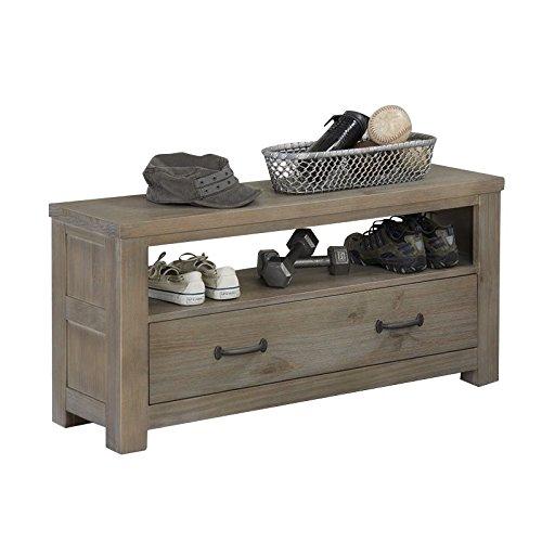NE Kids Highlands Bedroom Bench in Driftwood