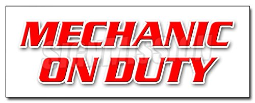 48'' MECHANIC ON DUTY DECAL sticker repair shop automotive tools maintenance by SignMission