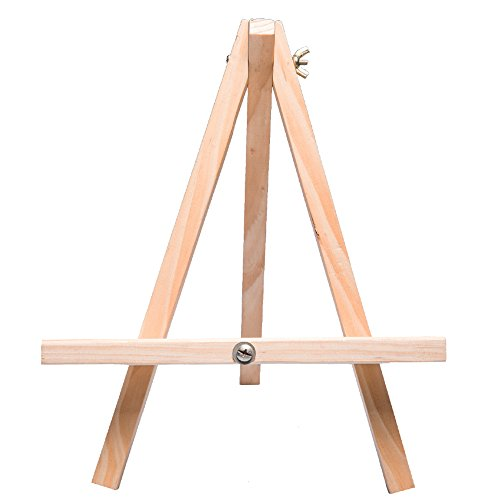 Tosnail 12'' Tall Natural Wood Tripod Easel Photo Painting Display - 5 Pack by Tosnail (Image #2)