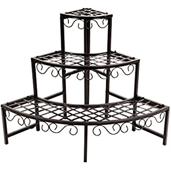 Amazon.com : Panacea Products Forged 3-Tier Plant Stand