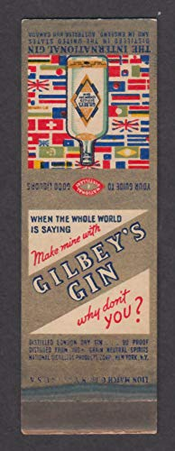 Gilbey's Gin The International Gin matchcover ()
