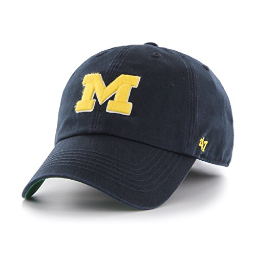 '47 NCAA Michigan Wolverines Franchise Fitted Hat, Navy A, XX-Large