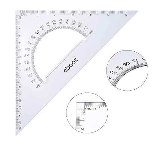 eBoot Large Triangle Ruler Square Set, 30/60 and 45/90 Degrees, Set of 2 by eBoot (Image #5)