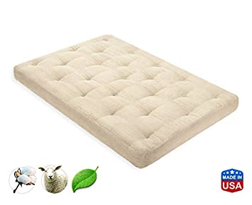 4 inch organic cotton pure wool mattress twin by  fort pure amazon    4 inch organic cotton pure wool mattress twin by      rh   amazon