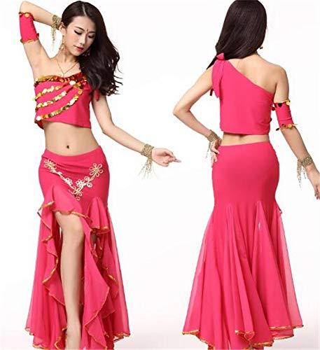 peiwen Les Danses/Shining Stade Ventre Danse/Performance Costume/Inde Danse Ensemble/des Hauts et des Jupes rose