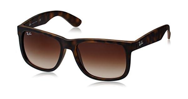 Amazon.com: Ray-Ban RB4165 Justin – Gafas de sol, hule Light ...