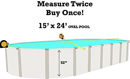 Smartline 15-Foot-by-24-Foot-by-52-Inch Oval 25 Gauge Manor Esther Williams  Above-Ground Beaded Swimming Pool Liner 25 Gauge