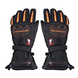 Heated Gloves,Electric Thermal Gloves Rechargeable Battery Operated Waterproof Winter Adult Gloves for Outdoor
