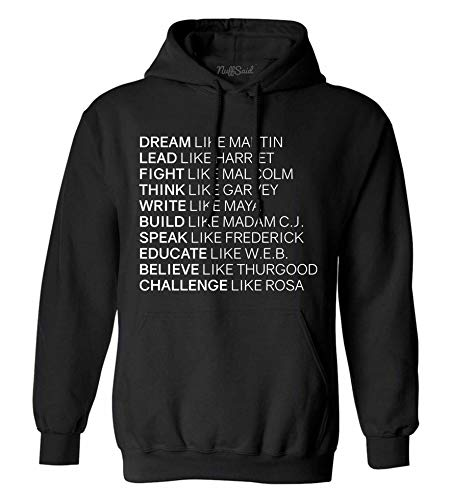 NuffSaid Dream Like Martin Hoodie - Unisex Hood (Large, Black) from NuffSaid