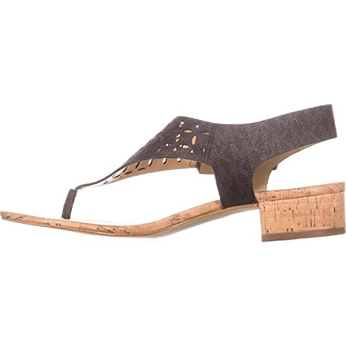 Leather Michael Kors Thongs (MICHAEL Michael Kors Womens London Thong Leather Open Toe, Brown, Size 5.5)