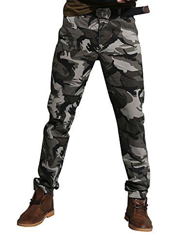 Must Way Men's Cotton Rip Stop Military Cargo Pants Wild Camo Hunting Combat Trousers 8005 Hawk Camo ()