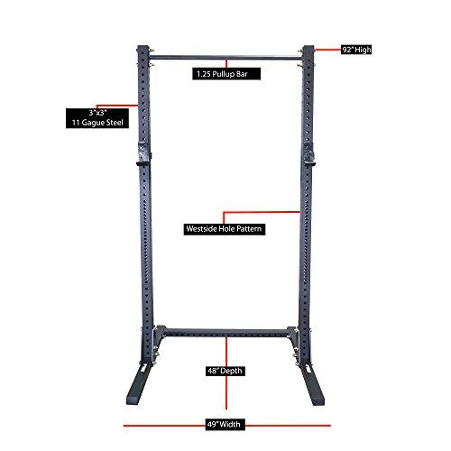 Titan X-3 Adjustable Squat Stand w/ Pull Up Bar 3'' x 3'' Heavy Duty by Titan Fitness (Image #1)