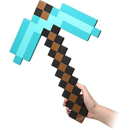 Foam Diamond Pickaxe not ThinkGeek Officially Licensed Minecraft Foam Blue Diamond Pickaxe and for Boys and Girls for birthday , Relate with Minecraft sword]()