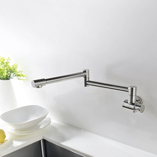 Avola Kitchen Sink Pot Filler Faucet,Wall Mount, Brushed Nickel Stainless Steel Kitchen Specific Faucet by Avola (Image #1)