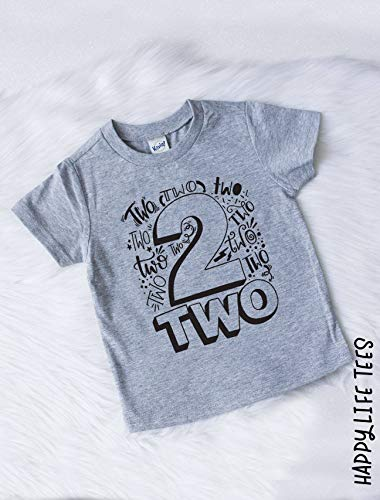 Amazon Second Birthday Shirt Boy 2 Boys Your Choice Of Colors Handmade