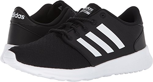 adidas Women's Cloudfoam QT Racer Running Shoe, Black/White/Carbon, 7.5 M US