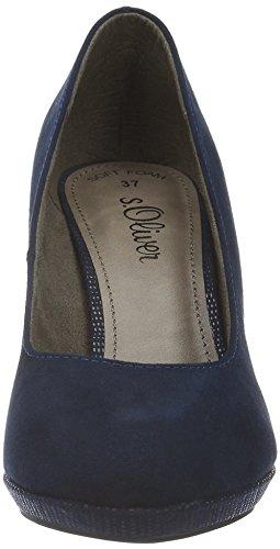 s.Oliver 13210, Zapatos de Tacón para Mujer, Azul (Navy 805), 37 EU