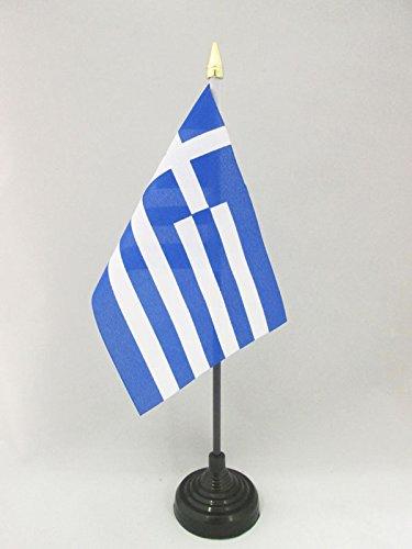 AZ FLAG Drapeau de Table Grèce 15x10cm Pointe Or