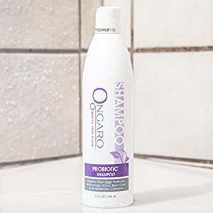 Ongaro Beauty Daily Shampoo; Natural, Sulfate-Free for Men & Women, Safe for Color-Treated Hair, Fresh Clean Scent with Probiotic Technology, Organic Aloe Vera, Apple Stem Cells, and Peptides; 12oz