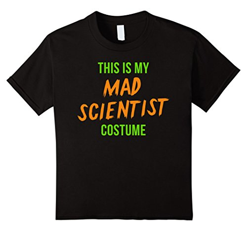Mad Scientist Costume Boy (Kids Scary Mad Scientist Halloween Costume Shirt 10 Black)