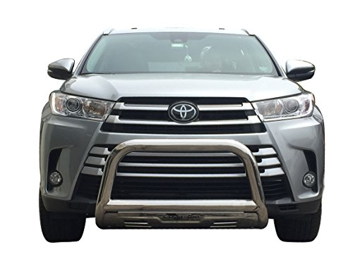 VANGUARD Off Road VGUBG-1248SS For Toyota Highlander 2014-2019 Bumper Guard Stainless Steel Bull Bar with Skid Plate