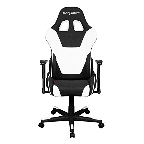 DXRacer OH/FD101/NW Formula Series Black and White Gaming Chair - Includes 2 Free Cushions