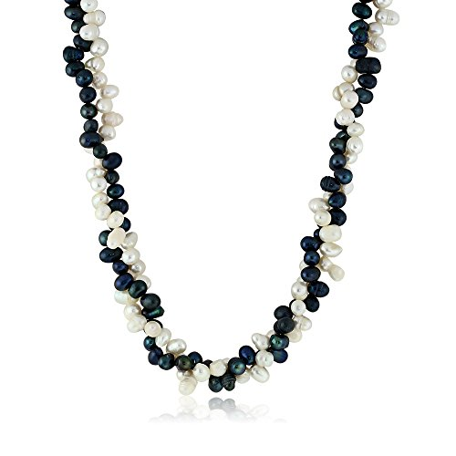 White Pink Black Pearl Necklace - 8