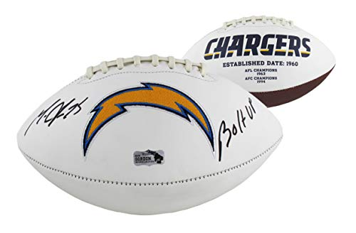 Melvin Gordon Autographed/Signed Los Angeles Chargers Embroidered NFL Football with