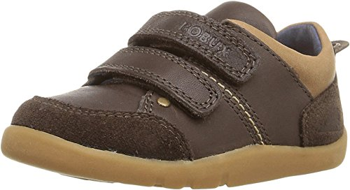 Bobux Kids Baby Boy's I-Walk Switch (Toddler) Espresso Brown Sneaker 24 (US 7-7.5 Toddler) (Bobux Suede Shoes)