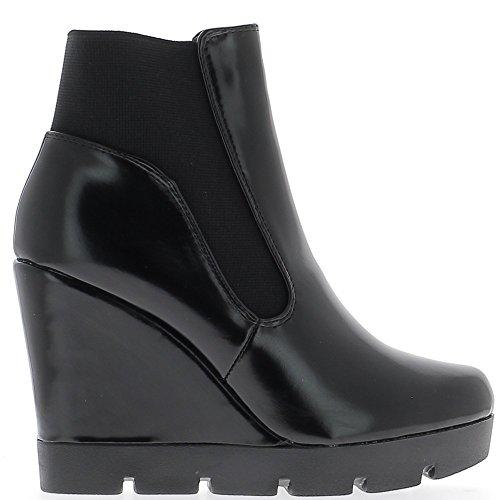 Negro botas en un talón material bi 10.5 cm