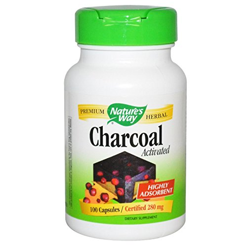 Activated Charcoal - 260mg 100 Caps [Pack of 6]