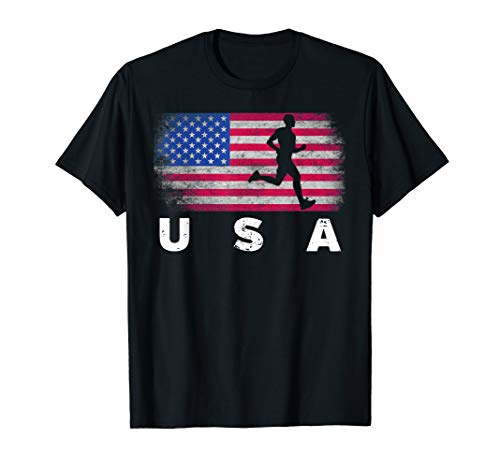American Flag Track & Field - Cute Field Running Shirt -