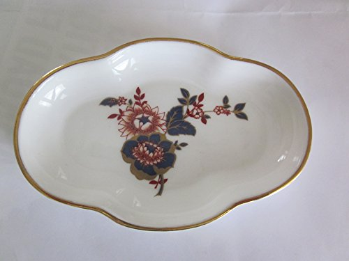 COALPORT Bone China Small Dish with Gold Rim, Pattern, KHOTAR , Dish size 4 1/2
