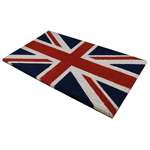 JVL Union Jack British Flag Novelty PVC Backed Coir Entrance Floor Door Mat by Bargains -