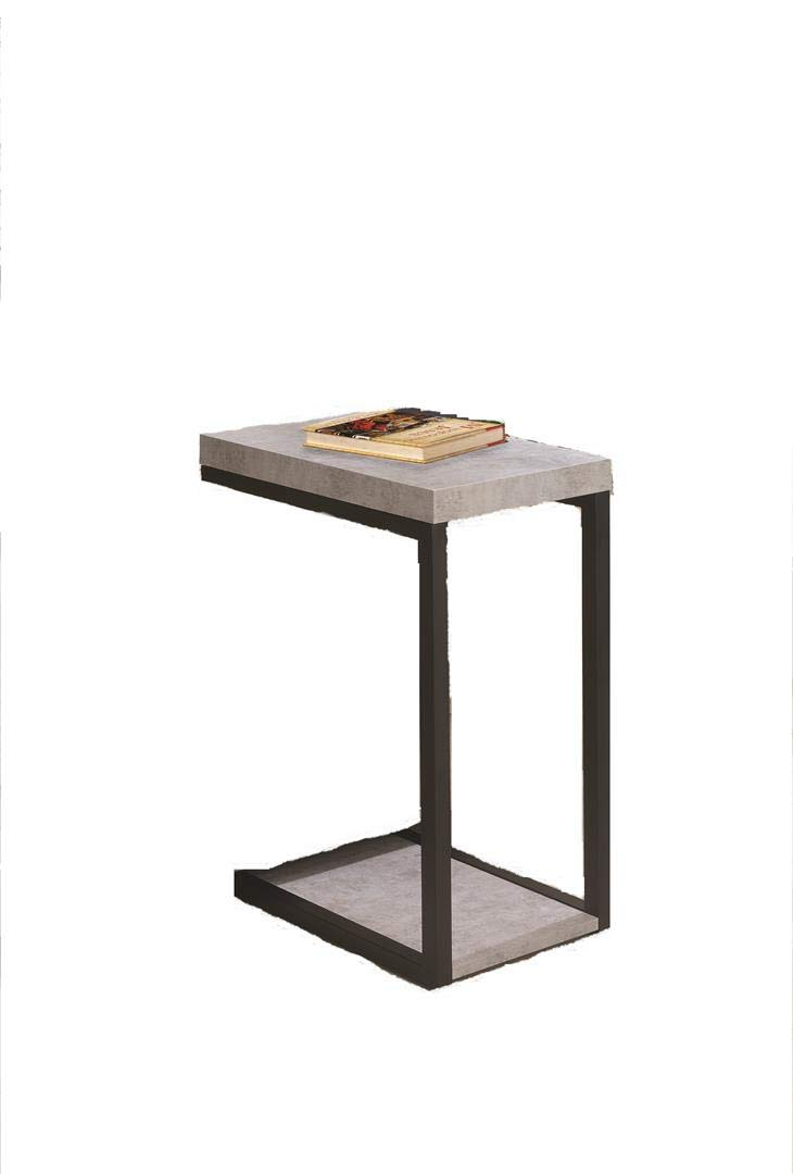 Coaster Furniture 902933 CO-902933 Snack Table, Cement and Black by Coaster Home Furnishings