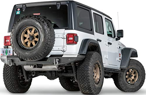 WARN 102410 Jeep JL Elite Rear Bumper, Not Tire Carrier Compatible ()
