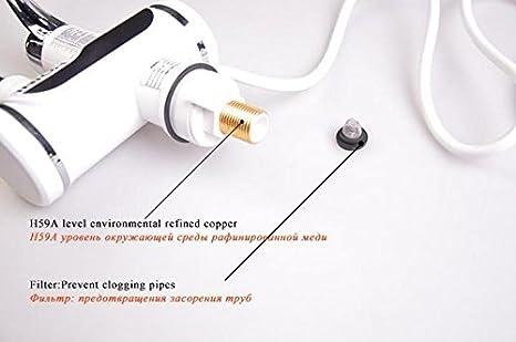 Deluxe Black Tavalax Chauffe-eau /électrique kai de cuisine num/érique de chauffage /électrique Robinet eau chaude et froide /à double usage /& instantan/é