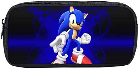 YUNXING Sonic Escolares Mochilas Impreso Anime Sonic Hedgehog Bros Super Mario Bolsa papelería de Dibujos Animados Caja de lápices Caja de Maquillaje Bolsa de Almacenamiento niños útiles Escolares: Amazon.es: Juguetes y juegos