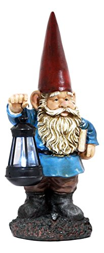 (Ebros Gift Whimsical Enchanter Gnome Holding Book of Spells Statue 17.25