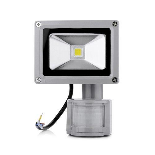 265 Projector Lamp - Pukido 10W Sensor COB Flood Light 85-265V searchlight with Motion Sensor PIR Flood led lamp LED Street Light Projector led floodlight - (Emitting Color: Cold White, Wattage: 10W)