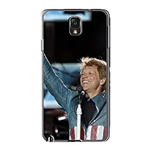 Shockproof Cell-phone Hard Covers For Samsung Galaxy Note3 (hid1491FRte) Customized High Resolution Bon Jovi Band Pattern