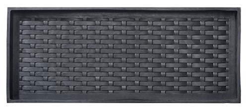 HF by LT Jumbo Basketweave Deluxe Rubber Boot Tray, 34