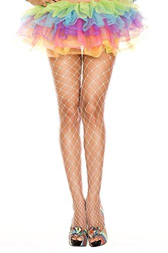 Gold Tights Lurex (Black Diamond Fishnet Pantyhose Costume Accessory - One Size - Dress Size 2-12)
