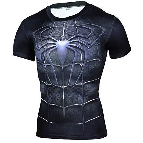 CosplayLife Black Spiderman Short Sleeve T-Shirt (M) -