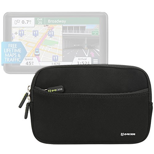 Gps Card Pocket Pc (6 - 7inch GPS Navigation Pouch Bag Evecase Universal Portable Neoprene Sleeve Case for Garmin nüvi, TomTom, Magellan Roadmate Portable GPS)