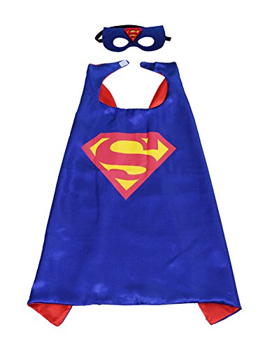 superman+costumes Products : Kids Night-luminous CAPE & MASK SET Superhero and Princess Halloween Costume
