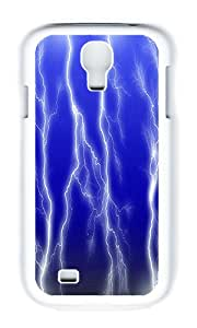 Samsung S4 Case,VUTTOO Cover With Photo: Lightning Storm For Samsung Galaxy S4 I9500 - PC White Hard Case